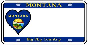 Montana State License Plate illustration stock