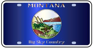 Montana State License Plate Flag illustration de vecteur