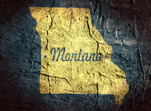 Montana state map Royalty Free Stock Image