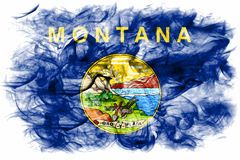 Montana state smoke flag, United States Of America. On a white background royalty free stock image