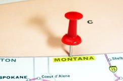 Montana    USA  map Stock Image