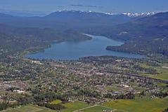 montana USA whitefish Fotografering för Bildbyråer