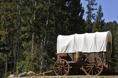 Montana Wagon Stock Photo