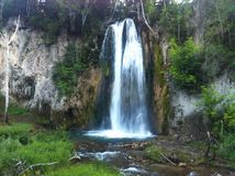 Montana Waterfall Royaltyfria Foton