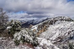 Sierra Nevada cubierta de nieve Obraz Stock