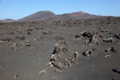 Montanas del Fuego, Lanzarote Royalty Free Stock Photo