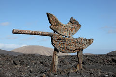 Montanas del Fuego, Lanzarote Royalty Free Stock Photography