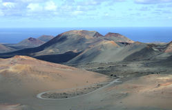 Montanas del Fuego Lanzarote Stock Photo
