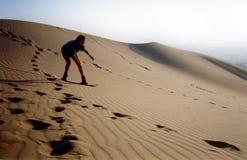 Montando as dunas Imagens de Stock