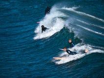Montando as ondas do azul Imagens de Stock Royalty Free