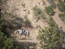 Montando en Bryce Canyon National Park, Utah, los E.E.U.U. Imagen de archivo
