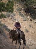 Montando en Bryce Canyon National Park, Utah, los E.E.U.U. Imagenes de archivo
