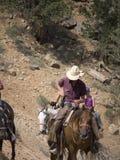 Montando en Bryce Canyon National Park, Utah, los E.E.U.U. Imagen de archivo libre de regalías