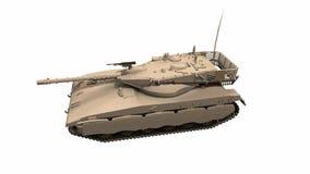 Montando um tanque de guerra nas partes no movimento footage animation video estoque