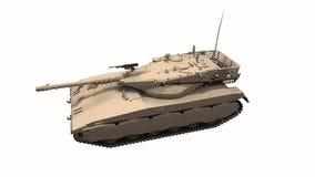 Montando um tanque de guerra nas partes no movimento footage animation ilustração do vetor