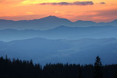 Montane sunset Royalty Free Stock Photography