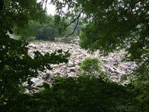 Montanhês rochoso perto do lago Wisconsin devils Foto de Stock Royalty Free