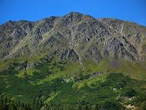 Montanha áspera íngreme na península de Kenai foto de stock