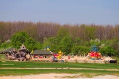 Montanha étnica de Kudykina Gora Kudykina do parque de diversões da família playground foto de stock