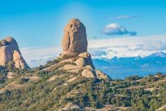 A montanha ajardina, Monserrate, Catalonia, Espanha Foto de Stock