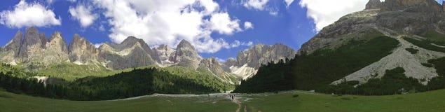 A montanha alta dolomiten Italia Fotos de Stock Royalty Free