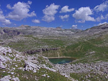 A montanha alta dolomiten Italia Foto de Stock Royalty Free