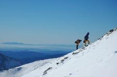 Montanha & snowboard Imagem de Stock Royalty Free