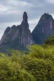 Montanha bonita, dedo do deus na cidade de Teresopolis, estado de Rio de janeiro, Brasil imagens de stock royalty free
