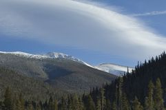 Montanha cénico e nuvens de Colorado Imagens de Stock Royalty Free
