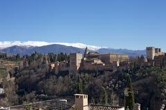 Montanha coberto de neve, Granada Fotografia de Stock Royalty Free