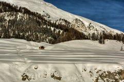 Montanha coberto de neve HDR Fotografia de Stock