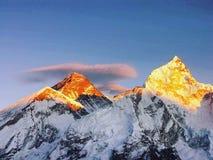 Montanha colorida do bom dia!! Imagens de Stock