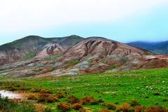 Montanha colorida Khizi Imagens de Stock