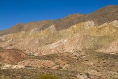 Montanha com máscaras diferentes do marrom e do ocre Fotos de Stock