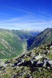 Montanha com neve Imagem de Stock