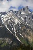 Montanha com neve de derretimento Imagens de Stock Royalty Free