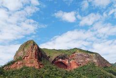 Montanha com um olho Imagens de Stock Royalty Free