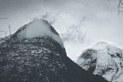 Montanha congelada Imagens de Stock Royalty Free