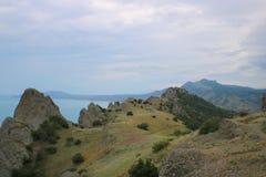 Montanha Crimeia Kara-Dag Fotografia de Stock Royalty Free