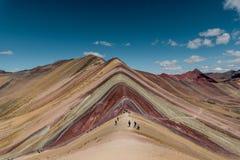 Montanha Cusco Perú do arco-íris imagem de stock royalty free