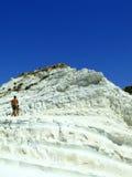 Montanha da costa de mar branco Imagens de Stock Royalty Free