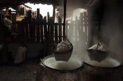 Montanha da lagoa de sal em TAILÂNDIA Imagem de Stock