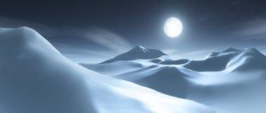 Montanha da neve Imagens de Stock Royalty Free