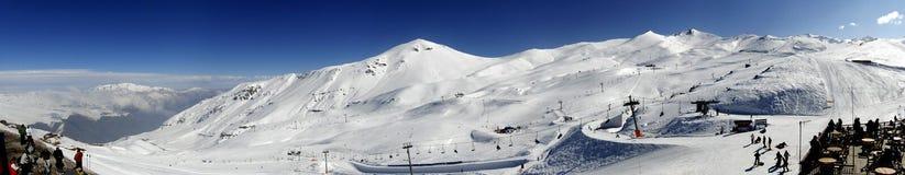 Montanha da neve Foto de Stock Royalty Free