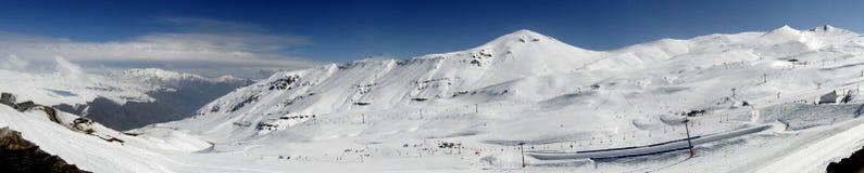 Montanha da neve imagens de stock