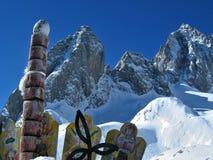 Montanha da neve, China Fotografia de Stock