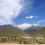 Montanha da neve de Haba! Fotografia de Stock Royalty Free