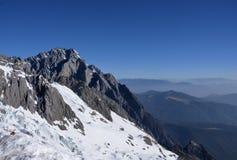 A montanha da neve de Jade Dragon Imagem de Stock Royalty Free