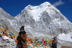 A montanha da neve de Konka Risumgongba Imagens de Stock