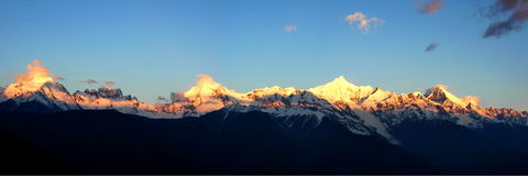 Montanha da neve de Meri Fotos de Stock